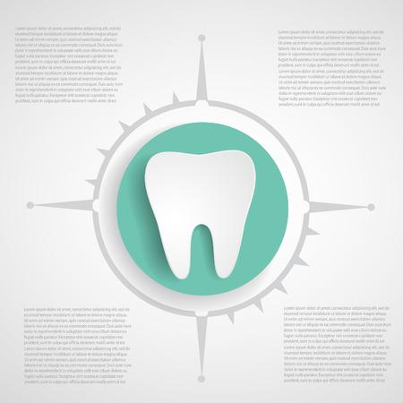 Medical infographics.Dental background.  Ilustração