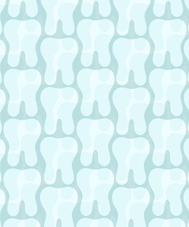 Seemless dental background. Ilustração