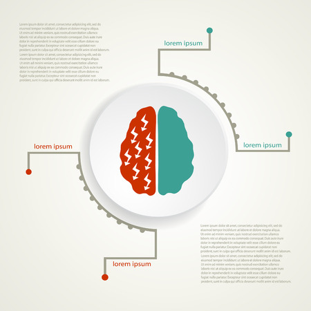 Migraine infographic background. Illustration
