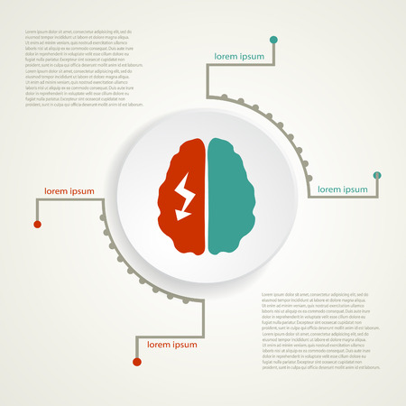 Migraine infographic background. Ilustração