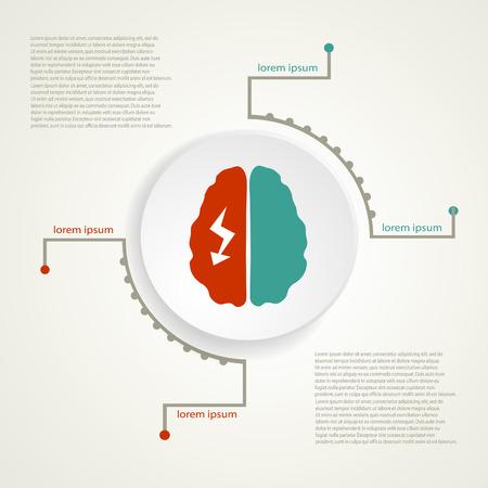migraine: Migraine infographic background. Illustration