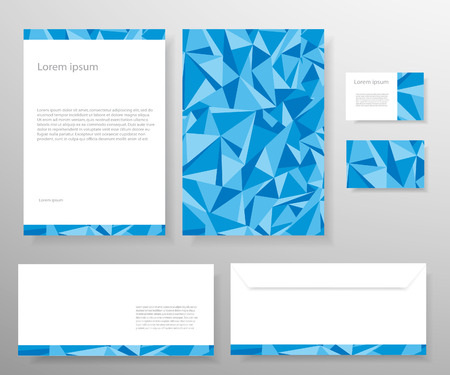 Stationery template design.Blue colours.
