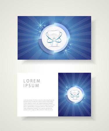Visiting card for dentist. Dental clinic corporate identity template.Vector illustration. Ilustração