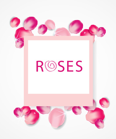 Background with pink rose petals. vector illustration.
