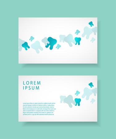 Visiting card for dentist. Dental clinic corporate identity template.Vector illustration. Illustration