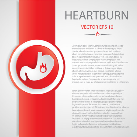 Heartburn background.