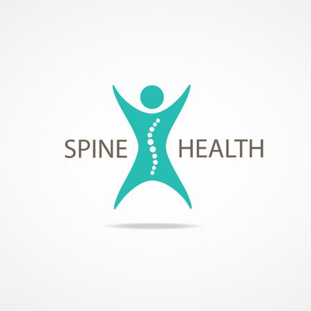 columna vertebral: Spine s�mbolo salud.