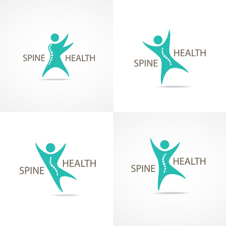 Spine health symbols set.