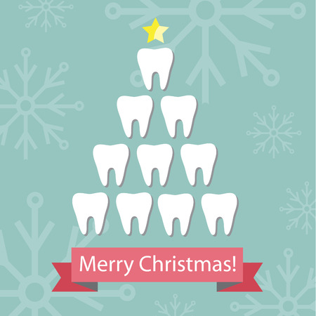 Dental Christmas card. 免版税图像 - 42045696