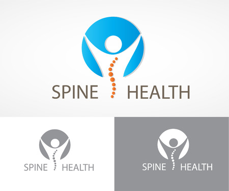 rehabilitation: Spine health symbols set.