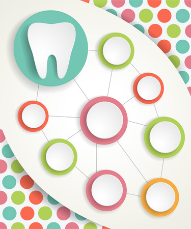 Tooth and circles infographics background
