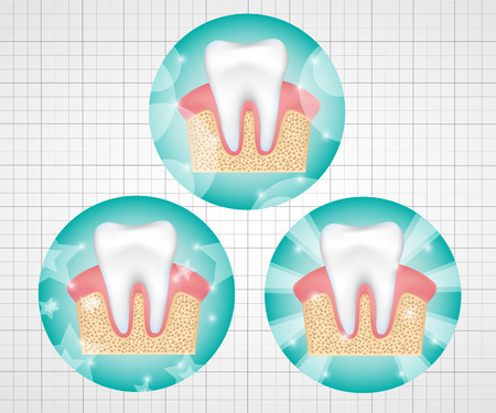 Healthy teeth symbols. Illustration