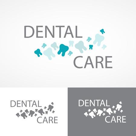 Dental health symbols set.