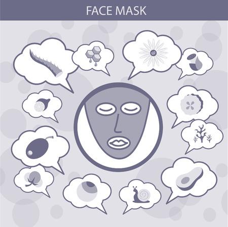 moisturizing: Face mask infographics.