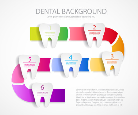 Dental care background.