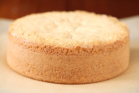 porcion de torta: Biscuit Bizcocho Foto de archivo