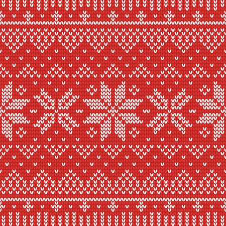 Christmas knitting seamless pattern with stripes, stars and triangles. Perfect for wallpaper, wrapping paper, web page background, New Year greeting cards