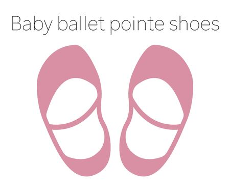 Baby ballet pointe shoes vector