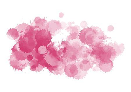 vector pink ink blotch composition
