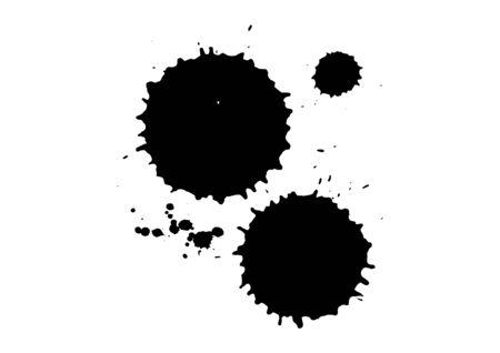 vector black ink blotch composition