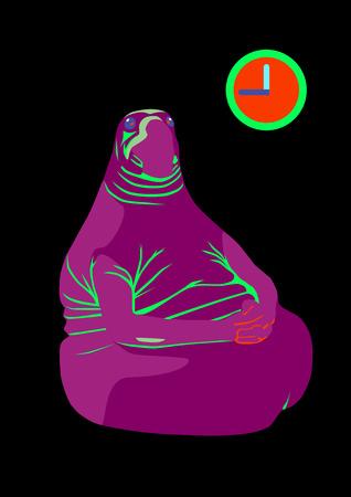 catroon: Homunculus Loxodontus neon style