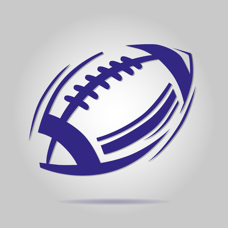 American blue football ball icon
