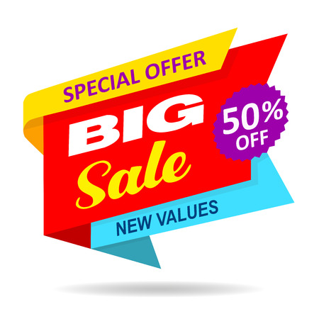 Sale offer discount isolated fifty Stock Photo
