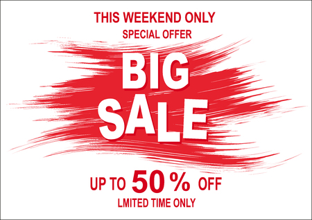 Special sale offer red tag fifty percent discount limited time for this weekend only