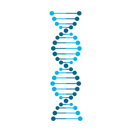 Abstract DNA strand symbol. Isolated on white background. Vector illustration Illustration