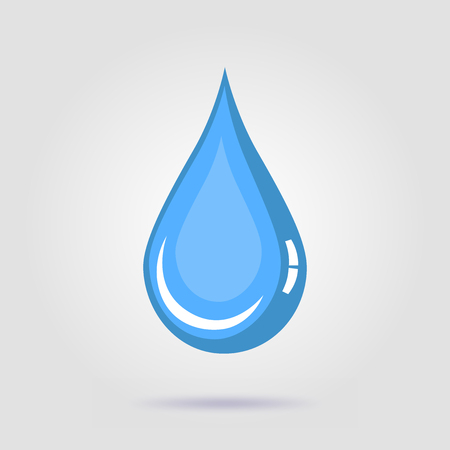 Water drop vector icon on a gray background Vektorové ilustrace