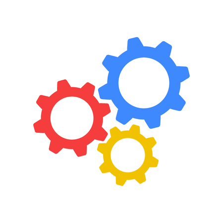 Gear icon vector. Original colorful flat icon Ilustrace