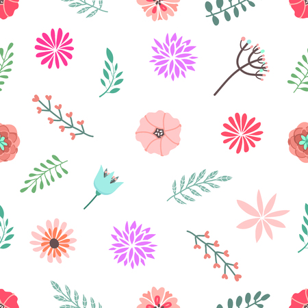 Seamless modern pattern with flowers. Original design