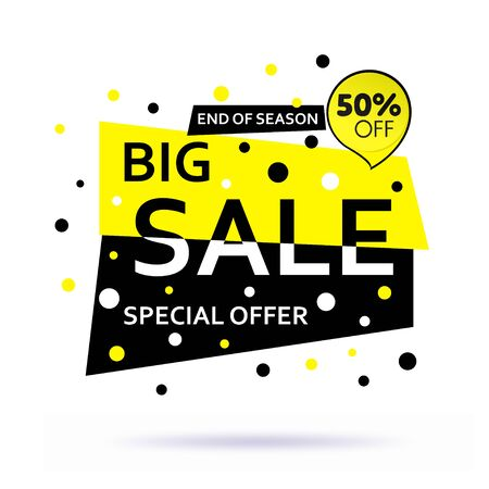 Sale banner modern bubbles design with soft shadow