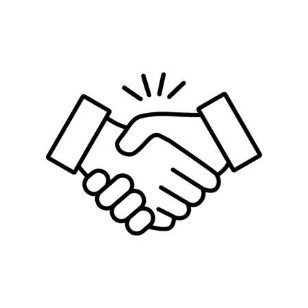Poignée de main icône vector design illustration sur fond blanc