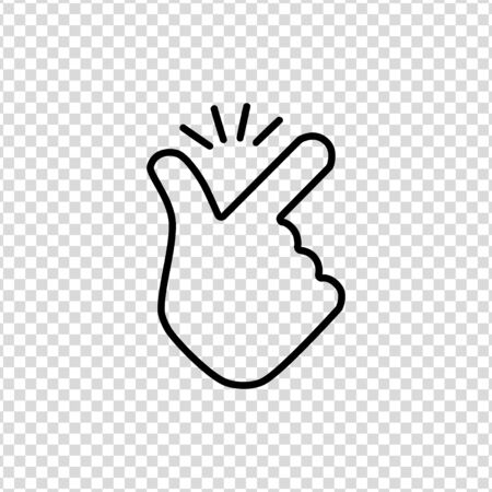 Thin line snap finger like easy   icon on a transparent background
