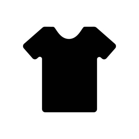 T-shirt clothes black icon on a white background