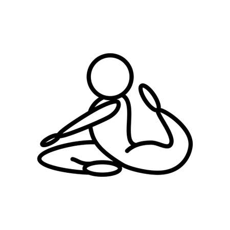 Yoga exercise icon thin line for web and mobile, modern minimalistic flat design