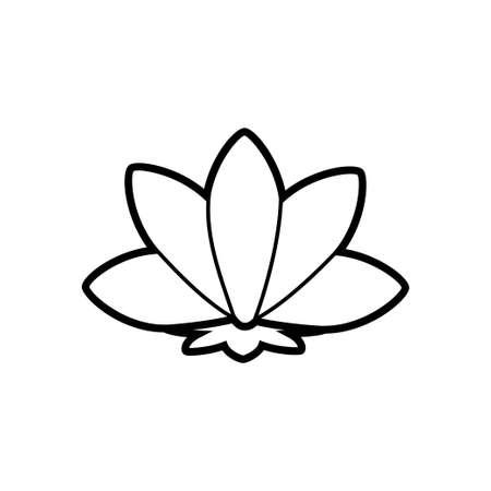 Yoga lotus sign meditation line icon on a white background