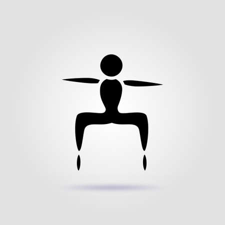 Yoga exercise icon for web and mobile, modern minimalistic flat design Illusztráció