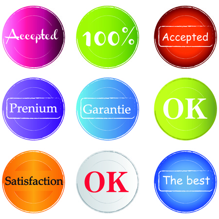 accepted: Tampers - OK - Accepted- satisfaction Tampers Accepted - ok - satifaction - vecteur