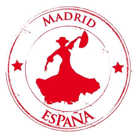 torero: Spanien - Madrid-Flamenco - Espana Illustration