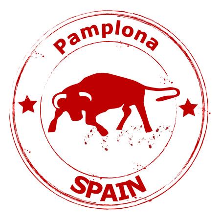 Spain- pamplona - torero - Espana Vector