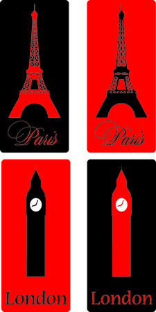Paris- London Vector