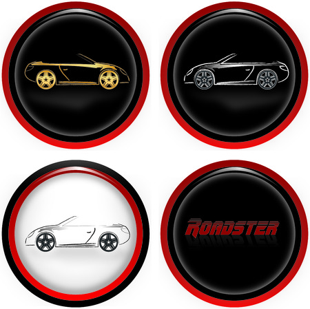 Roadster cars  illustration Vector