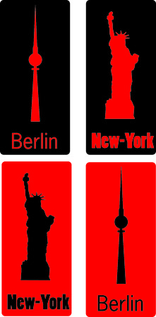 New York Berlin Vector