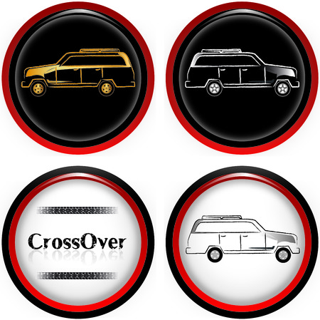 CrossOver Cars illustration Vector