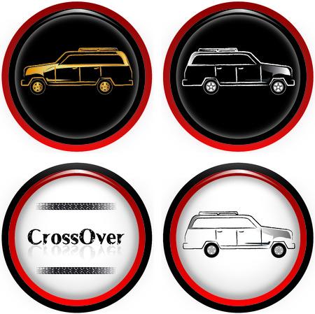crossover: CrossOver Cars illustration
