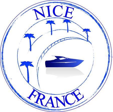 Stamp Nice France Vector