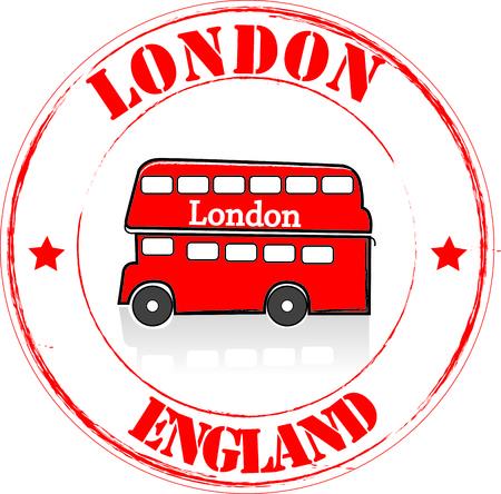inglaterra: Selo Londres Ilustra��o