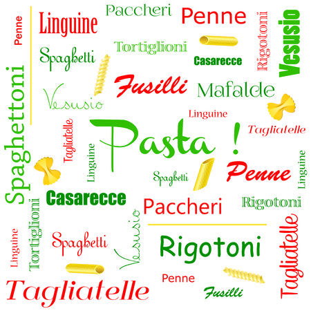 Background pasta Vector